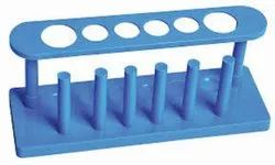 6 Holes Plastic Test Tube Stand, Packaging Type: Box Of Dozen