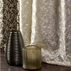Polyester Brown Embroidered Curtains, For Home