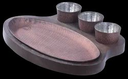Concept Oval Smokey Snacks Set with Dip Bowls & Underliner