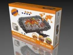 Stainless Steel Electric Barbeque Grill - 2000 Watt