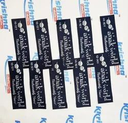 Various Cotton Custom Clothing Stickers, Dry Clean, Packaging Type: Packet