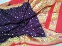 Tussat Georgette Kaduwa Banarasi Saree