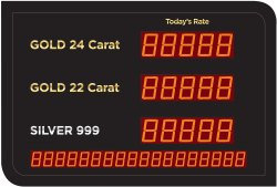 Gold Silver Rate Display