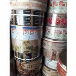 Silver Printed Paper Plate Raw Material, 80, Packaging Type: Roll