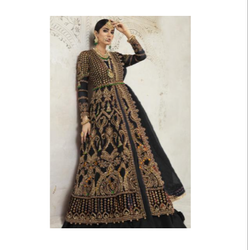 Net Fabric Designer Heavy Embroidred Salwar Suit