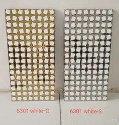 Metallic silver wall tiles