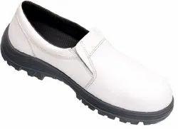 White Leather PU Sole Karam Abawrf Safety Shoes