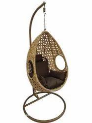 Hanging Swing, Single Seater, GC-142, Honey cum Brown, Brown Cushion