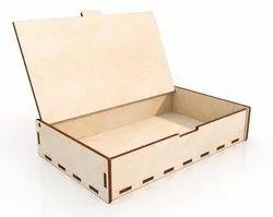Birch Ply Wood Brown Handmade Wooden Storage Box, Jewellery Box For Women Multipurpose Use, Size: Multi Size