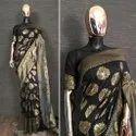 Party Wear Banarasi Silk Saree Sumshy