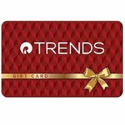 Red Reliance Trends Gift Card, Size: 86x54mm