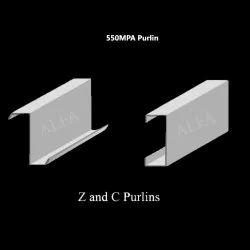 550 MPA Hot Rolled Bare HR GI Purlin