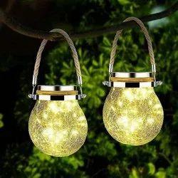 9w Warm White Cracked Glass Globe Solar Light, For Decoration