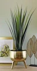 Gold Aluminum Flower Vases