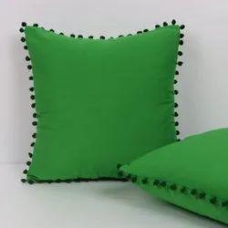 Cotton Pom Pom Plain Cushion Cover exporter