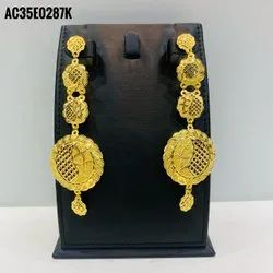 African Gold Plated Earrings