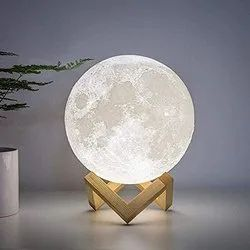 7 Color Changing Moon LED Night Light Lamp