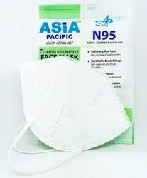 Asia Pacific 5 Layer N95 Face Mask For Covid Protection