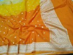 Banarasi Khaddi Silk Chiffon Saree