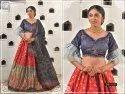 Woman Banarsi Silk Lahenga Choli