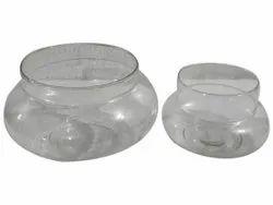 Glossy Transparent Potpurri Glass Plant Vase Set