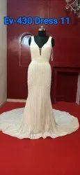 Wedding Gown Bridal Wedding Gown V-neck Sleeveless Fancy Dress For Women