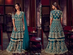Blue Georgette Designer Wedding Wear Salwar Kameez