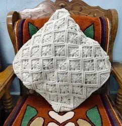 White Cotton Crocheted Raffia Bags, Size: 6x6x6