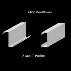 2.1mm Galvanized Iron Channel Section