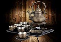 Antique Heritage Tea Set with Tea Cups