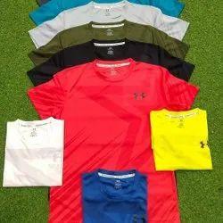 Round Half Sleeve Men Plain Cotton T Shirt, Size: Medium