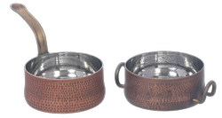 Smokey Copper SS Hmrd Saucepan & Casserole