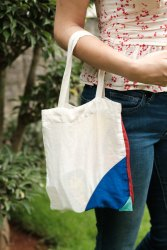 Strape Plain Handheld Cotton Bag, Size/Dimension: Small