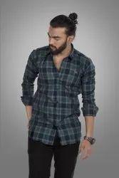 Mix Color Casual Wear Mens Stylish Check Shirt