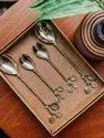 Brass Leaf Design Handle Antique Cutlery Sets