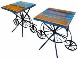 Powder Coated Vintage Metal Table