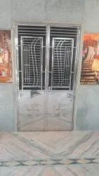 Silver Exterior Stainless Steel Double Door Grill