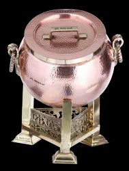 Copper Hammered Mini Mughlai Handi Chafer