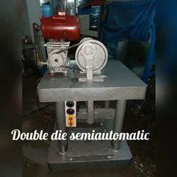 JDI Double Die Semi Automatic Pattal Dona Making Machine