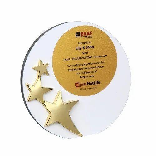 Star Performer Award Plaque