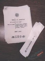 Custom printed clothing tags