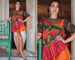 Khadi Embroidered Kath-Putli Female Kedia Collection