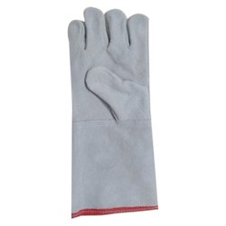 Unisex Industrial Leather Hand Glove, 8inch, Finger Type: Full Fingered