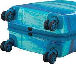Multicolor Polycarbonate Rover 4 WHEEL HARD PRINTED STROLLY LUGGAGE BAG, Size: 67.6*46.8*27.1cm