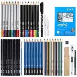 Corslet Wood Sketching Pencil Set Drawing Pencil Kit 71 pcs, Packaging Size: Zip Pack, Model Name/Number: Multicolor
