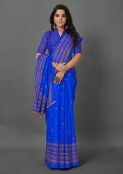 Woman Jute Silk Designer Saree