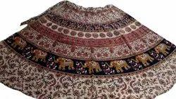 Jaipuri Print Wrap Around Skirt