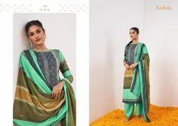 Azara Marigold Cambric Cotton Designer Dress Material Collection