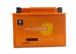 Power Zone 48PZTZ9R Bike Battery, 9Ah