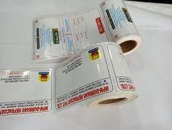 Multicolor Printed Paper Labels
